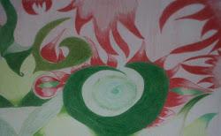 Abstraccion con colores complementarios