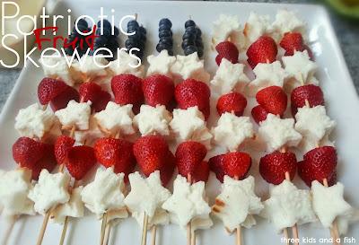 patriotic fruit skewer