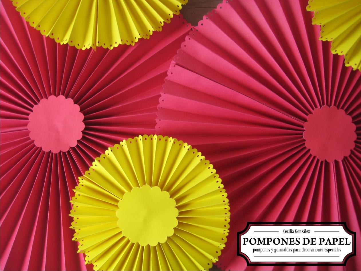 Pompones de papel rosetas - Pompones con papel de seda ...