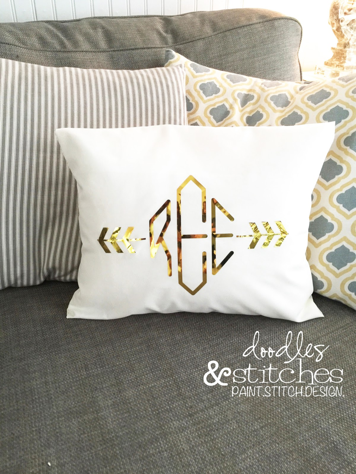 Gold Htv Envelope Pillow Happy Crafters