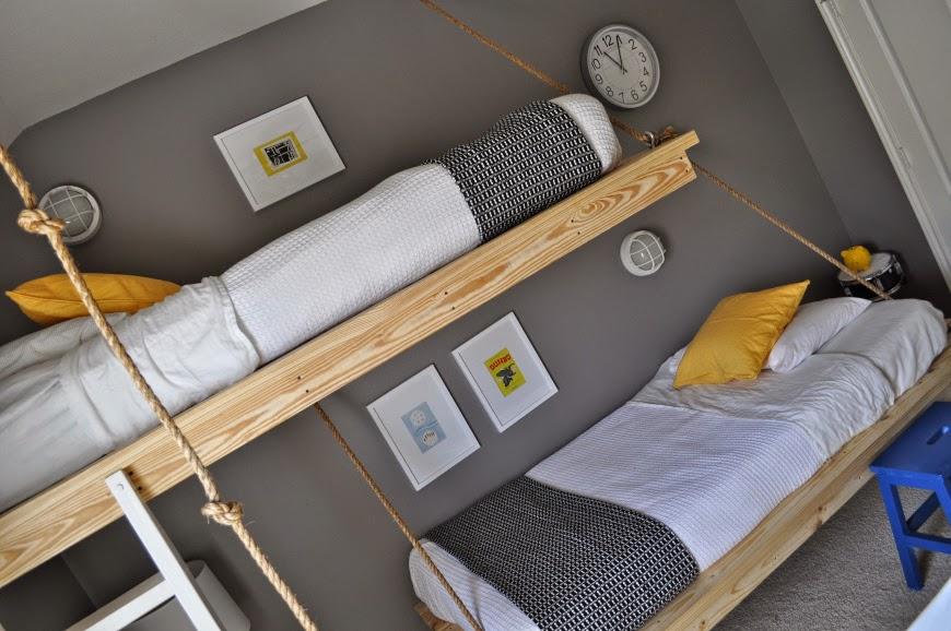 Dormitorio compartido con literas handmade4