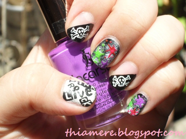 on beauty stuff and what else\'s....~: BFF Challenge:Punk Nail Art