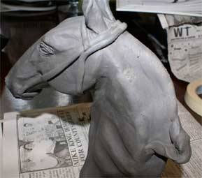 sculpt a clay horse, clay sculpture tutorial, clay sculpture demonstration