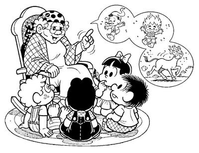 Folclore Turma da Mônica para colorir