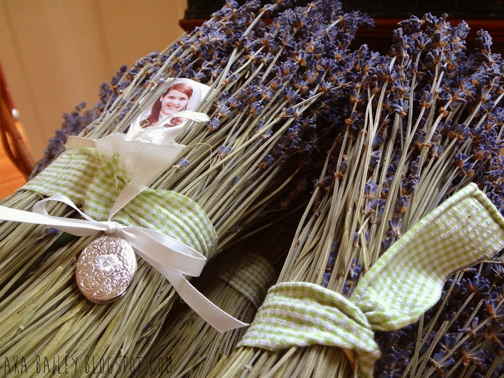 Bundles of lavender for bridal bouquets