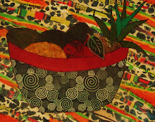 "PATRICIA ANN WILSON  ""RASTA COLOR FRUIT BOWL"""