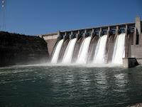 a dam generating hydro electricity