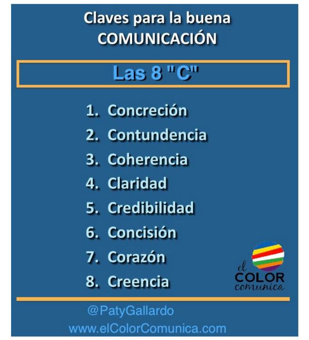las 8 C de la Comunicación