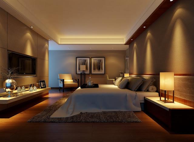 Mẫu trần thạch cao phòng ngủ căn hộ chung cư hiện đại