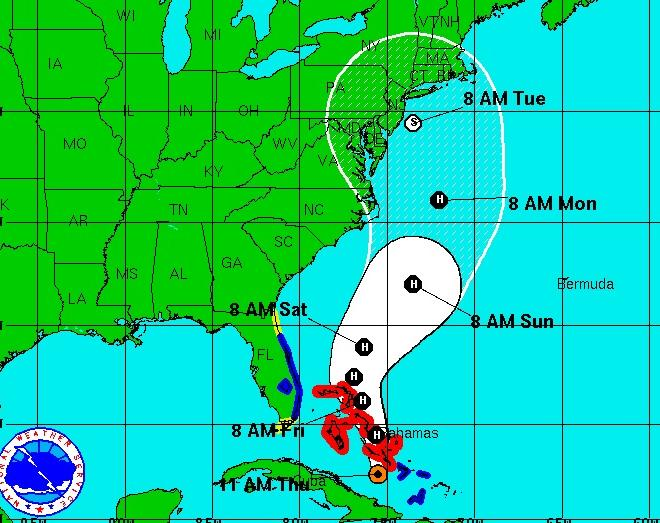 Hurricane Sandy 2012 Projected Path