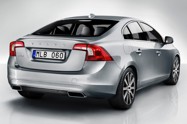New 2015 Volvo type S60  back silver color view