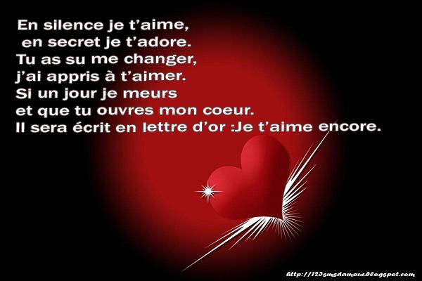 Connu SMS d'amour 2018 - SMS d'amour message: poèmes sms d'amour HR82