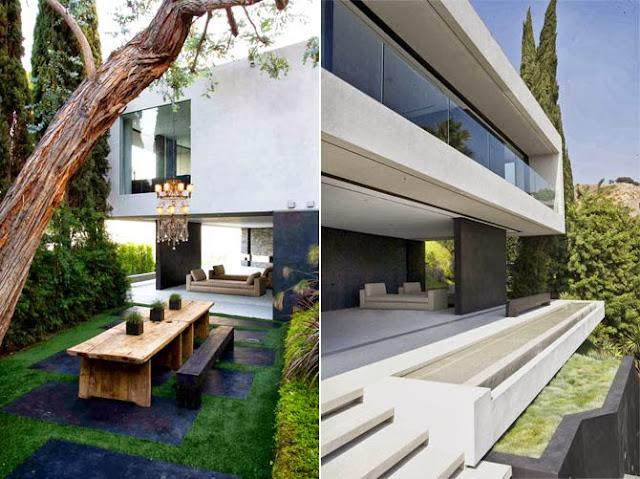 Openhouse una villa moderna e minimalista tra le colline for Interni villa moderna