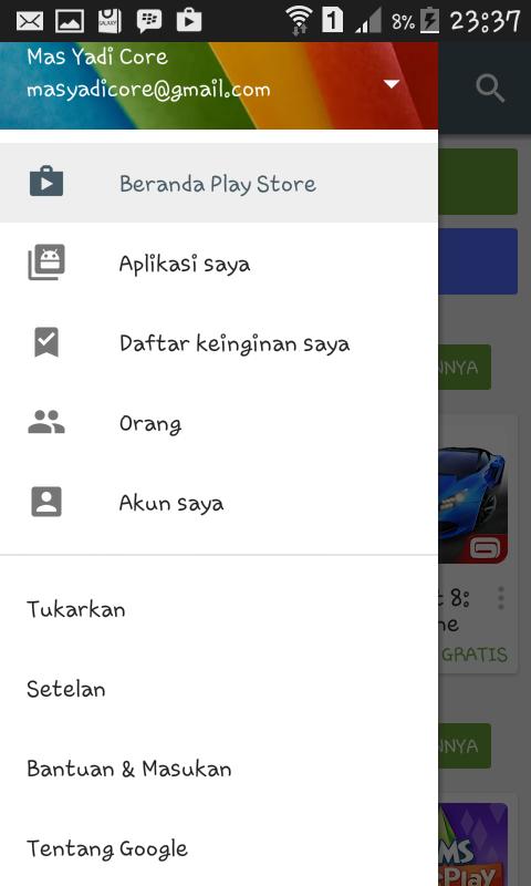 Cara menonaktifkan Apps Android Update Sendiri dengan Google Play Store