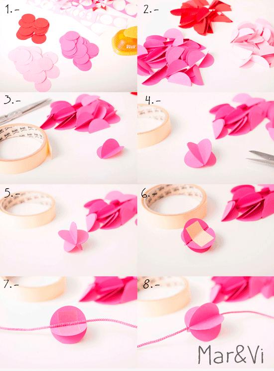 come fare una ghirlanda di carta handmade