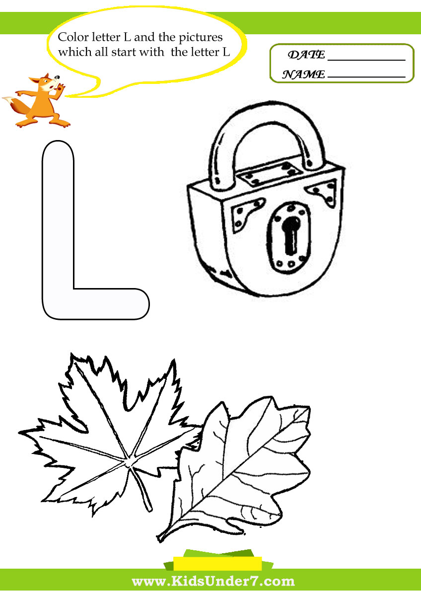 Free Worksheet Letter L Worksheets For Preschool kids under 7 letter l worksheets and coloring pages k m pages