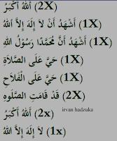 Lafadz Bacaan Iqamah yang benar