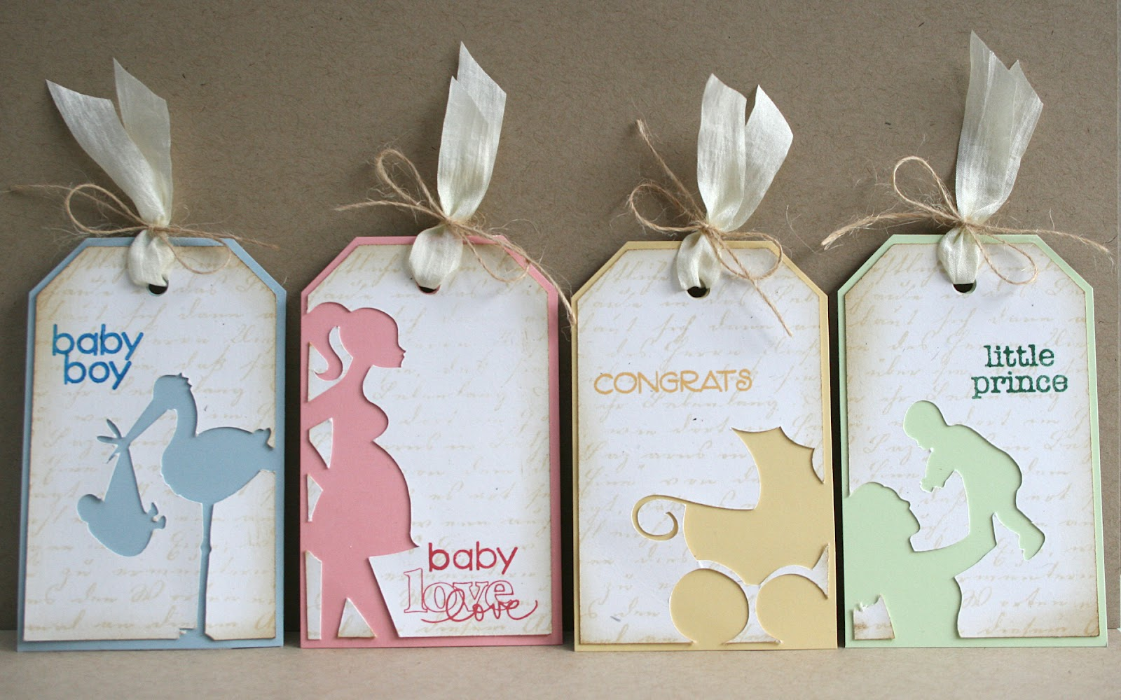 It's just an image of Unforgettable Baby Gift Tags