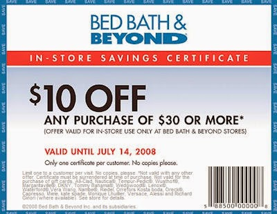 As a Bed Bath & Beyond or buybuy Baby email subscriber, you'll get offers and coupons to use on your online and in-store purchases. Using your coupons in the store is easy: you can print it out, or access your offer and show it to the cashier on your mobile device.