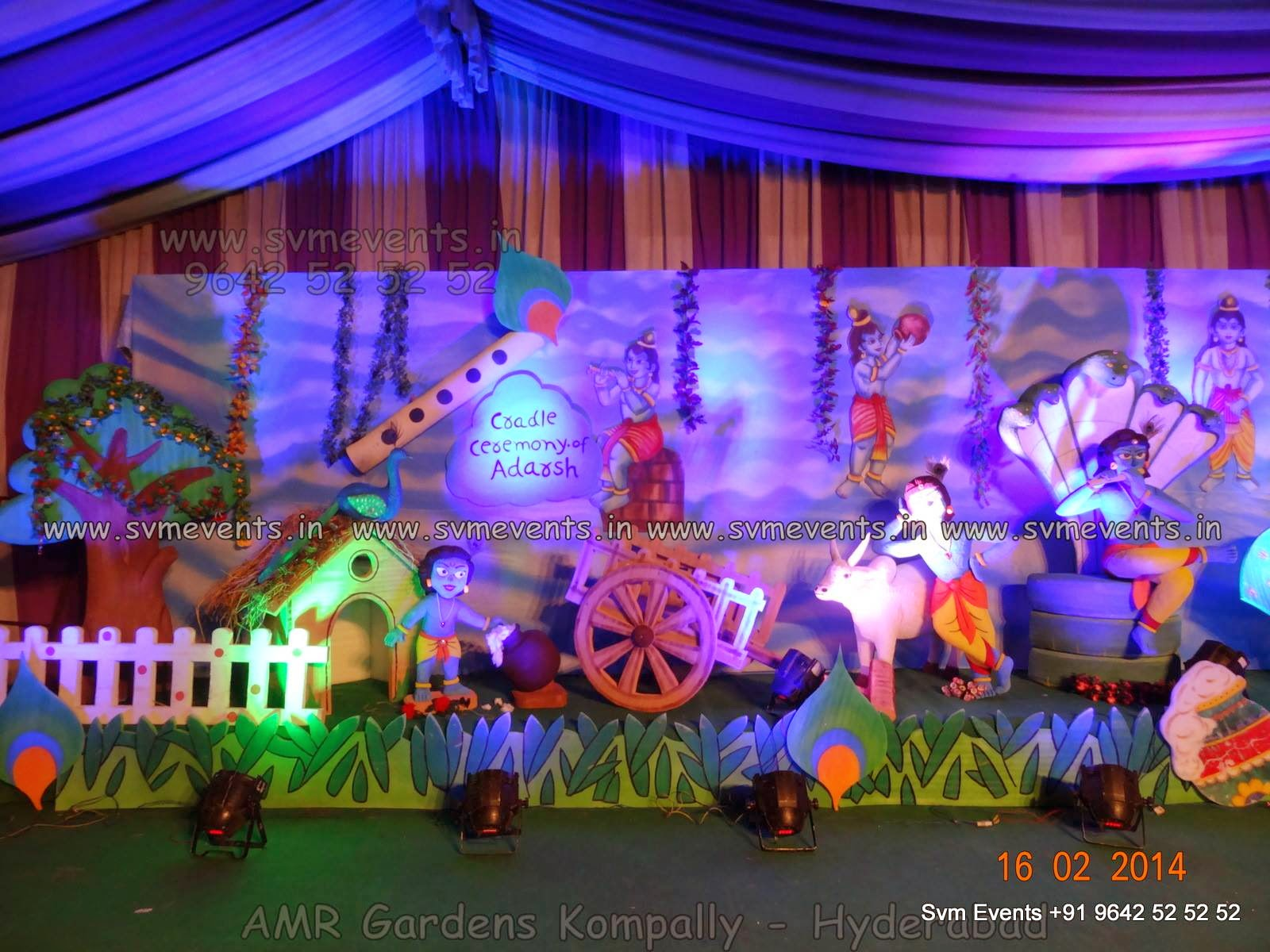 Svm events 3d theme setup decorations for kids 1st for 3d decoration for birthday