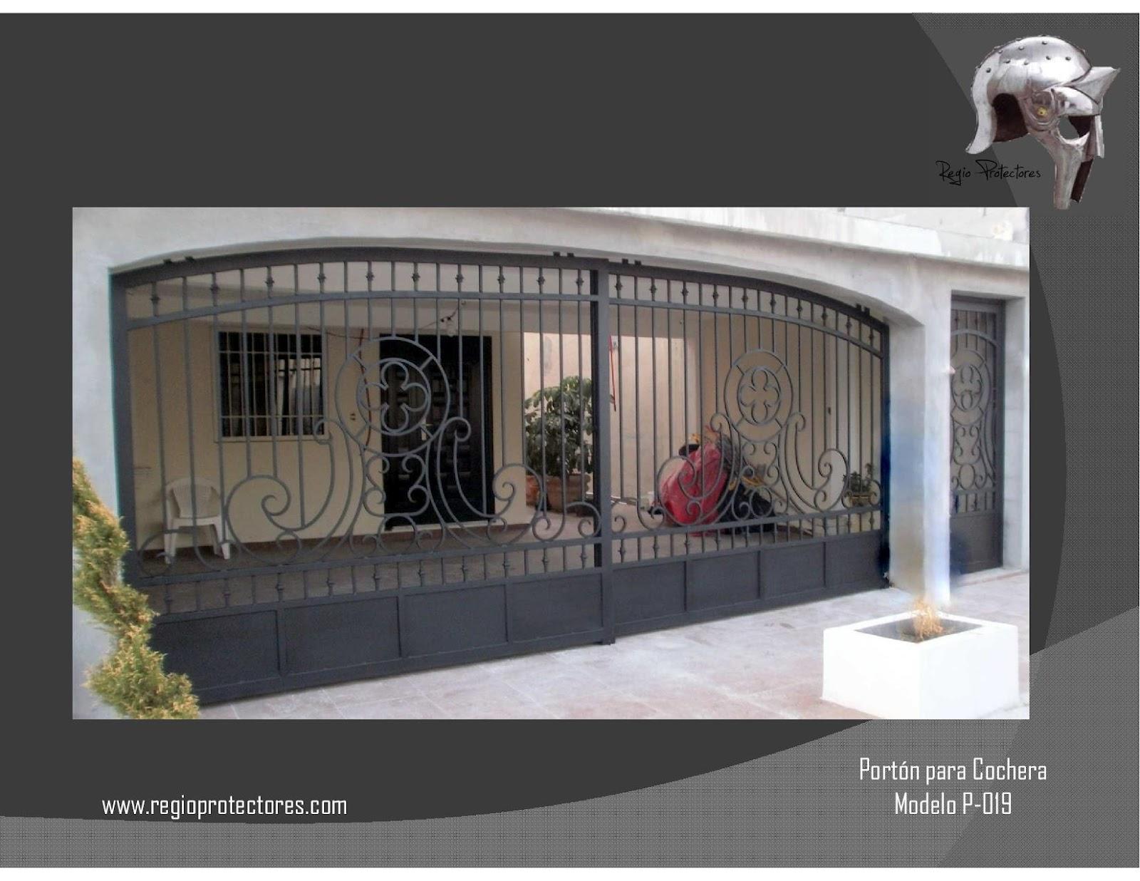 Regio protectores cat logo de portones residenciales for Modelos de portones metalicos para casas