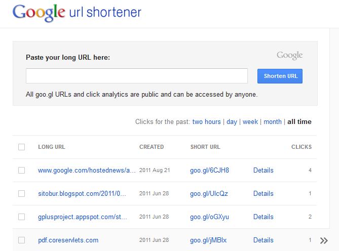 Servicios de Google: Goo.gl