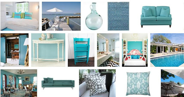 COCOCOZY summer style board with a focus on Simple lines and clean, fresh teals and blues
