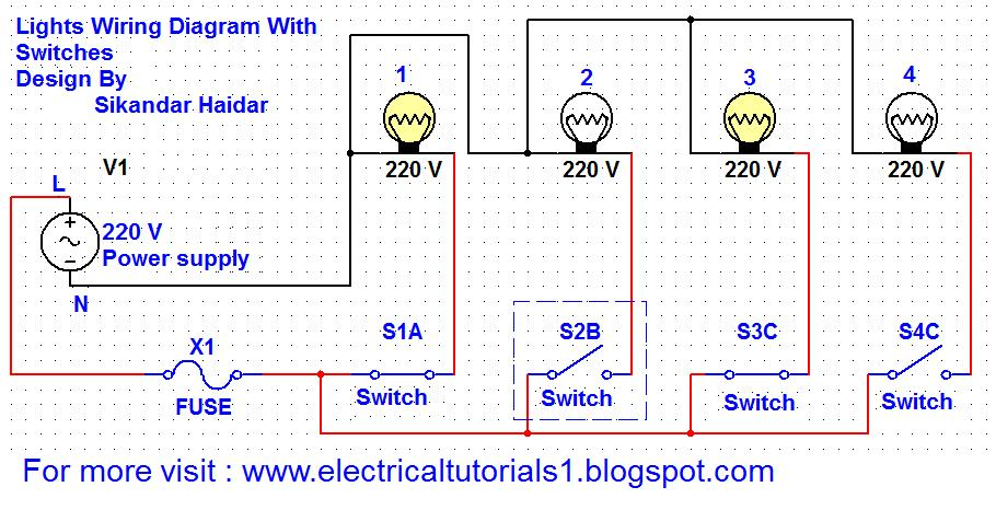 How to wire lights with switches electrical tutorials urdu hindi switched lights wiring ccuart Gallery