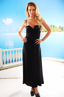 BLACK BEADED SPAGHETTI STRAPS LONG COCKTAIL DRESS