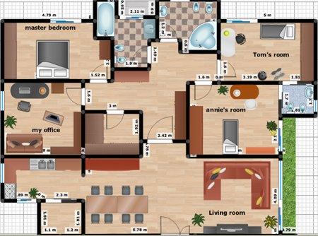 Tecnolog al nivel 14 planos bocetos y graficas for Casa de una planta sencilla
