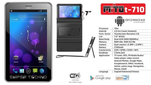 Spesifikasi dan Harga Mito T970 Tablet Book