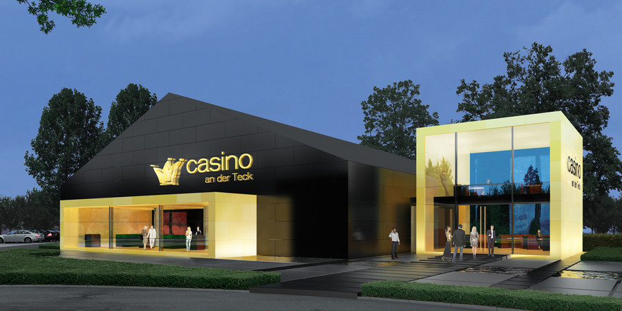 Front Elevation Office Design : D front elevation company office casino show room