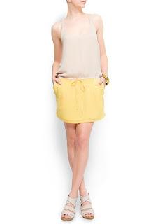 mango sarı elbise
