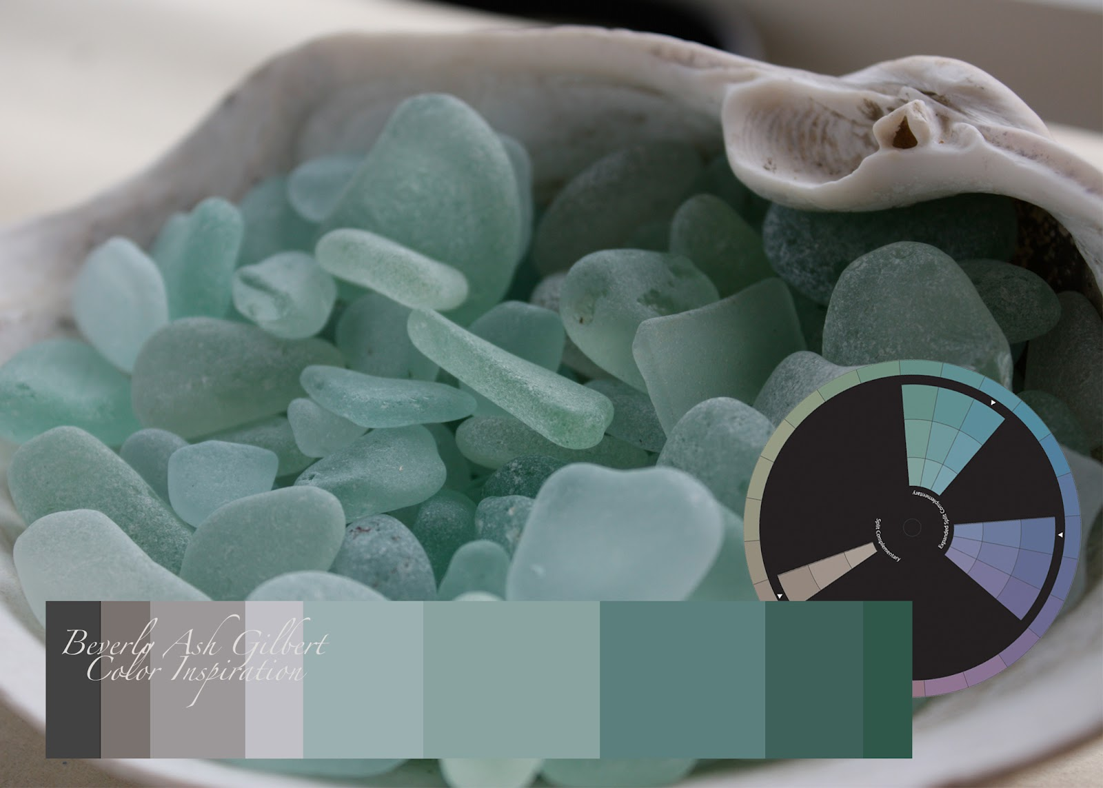 color inspiration sea glass in sea foam green
