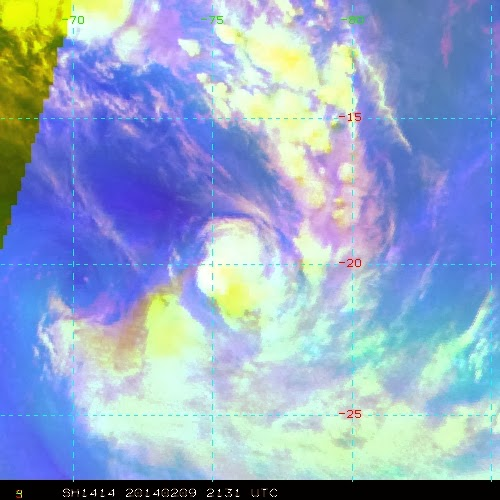 Image satellite de la forte tempête Fobane