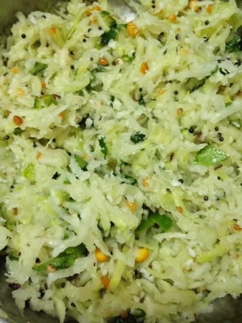 Navil Kosu Kosambri (Naval kol Salad),German turnip,Knol kol