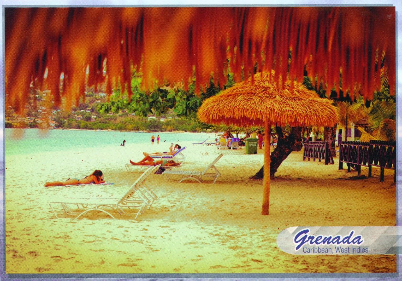 postcard, beach, grenada