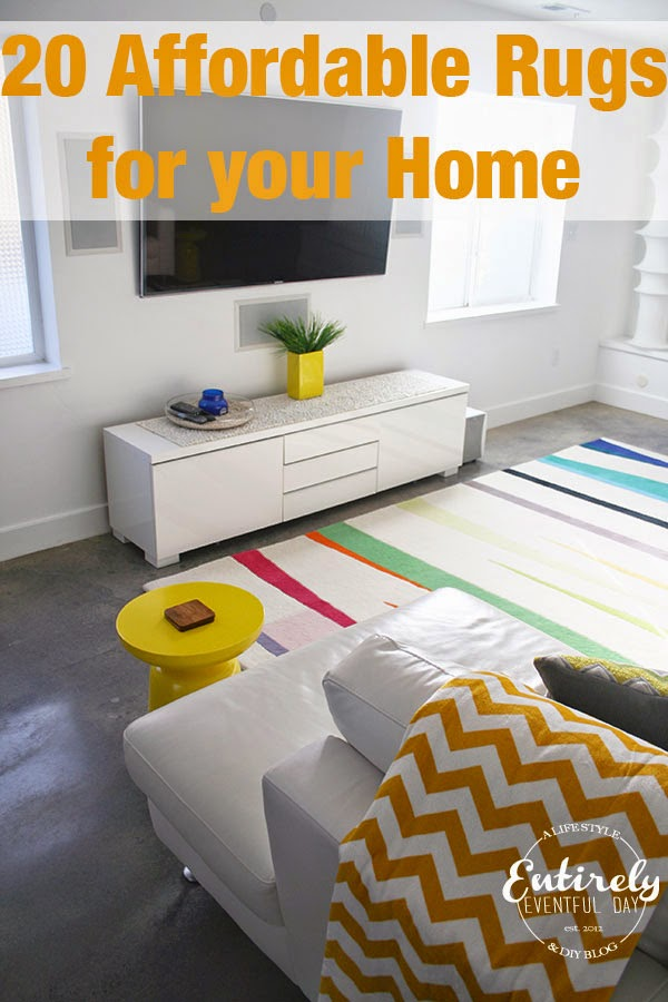A great list of super cute and affordable rugs. Must pin!