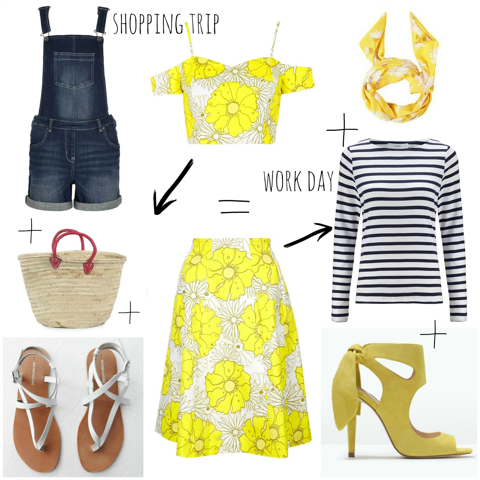 mamasVIb | V. I. BABYMAMAS: Have you tried a co-ord this summer? | asos | prim ark | culottes | womens fashion | tops shoot bardot top and skirt | floral print | breton | boden | dungarees | yellow heels | topshop | warehouse | co-eds | fashion | style | kate spade | shoes |heels | wardrobe wonders | stylish | mamasVIb | clothes  models | match match | matching style s suiting | co-ord | style