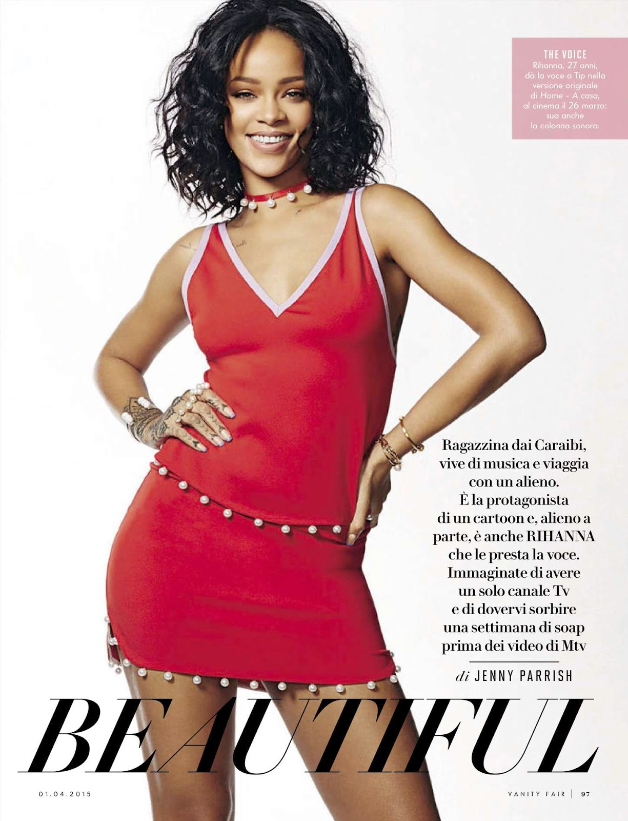 Singer @ Rihanna - Vanity Fair Italy, April 2015