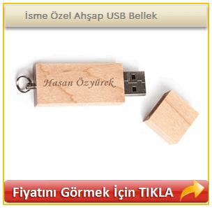 İsme Özel Ahşap USB Bellek