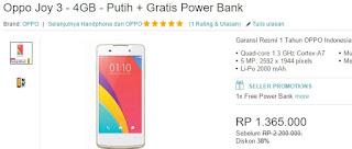 Promo OPPO Joy 3 Rp 1.365.000 Bonus PowerBank 6800 mAh