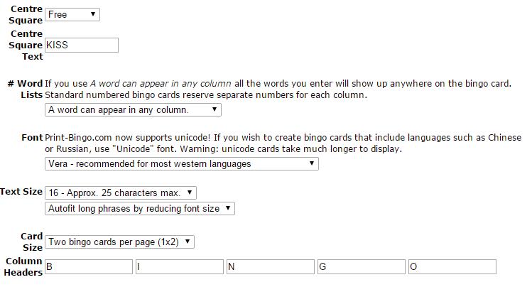 Valentines Bingo Cards Maker 1