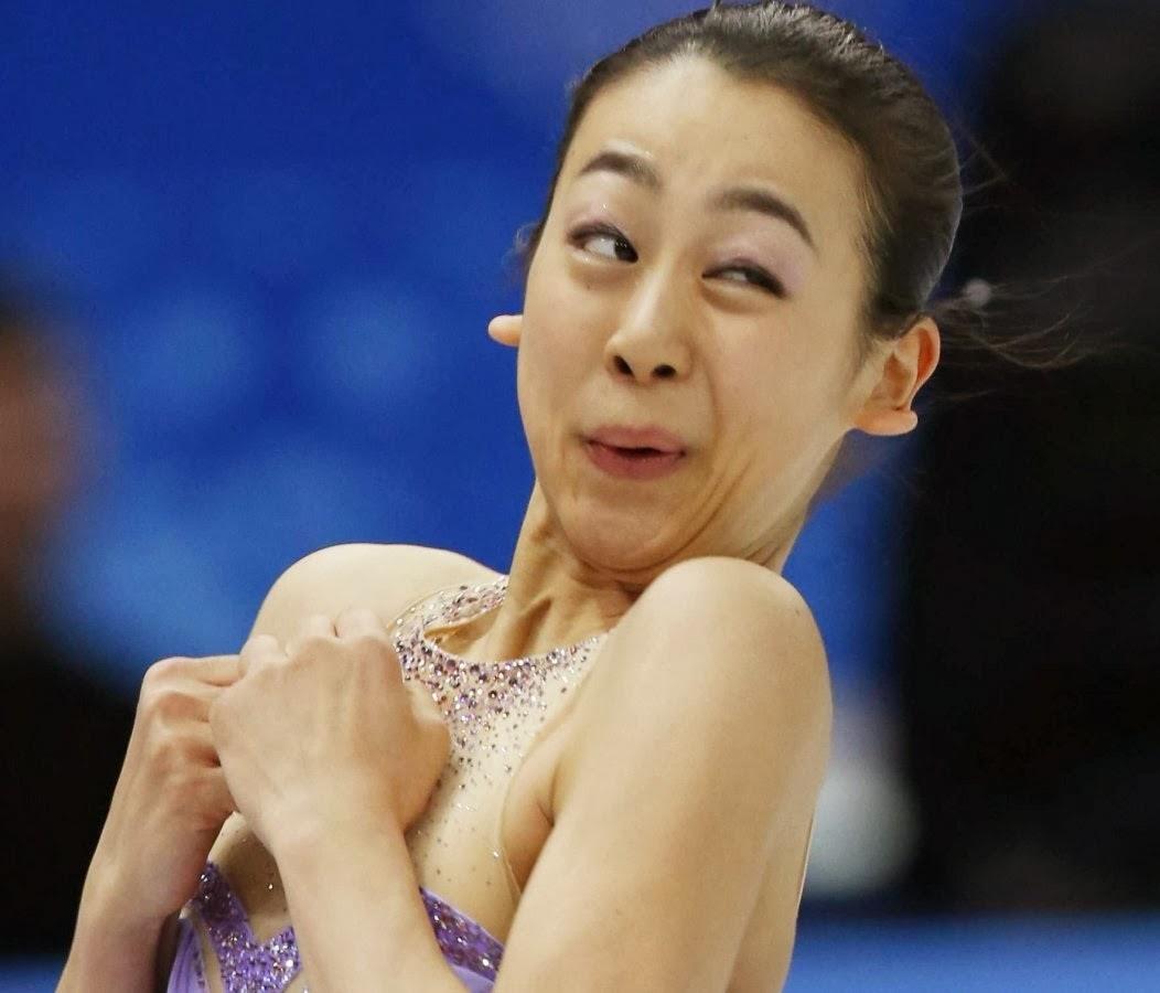 mao asada, sochi 2014,olympics funny face