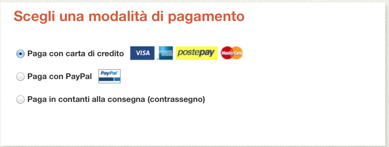 shop online con pagamento alla consegna