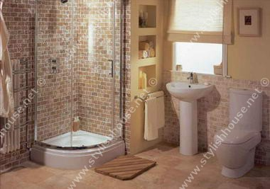 Simple interior bathroom furniture set