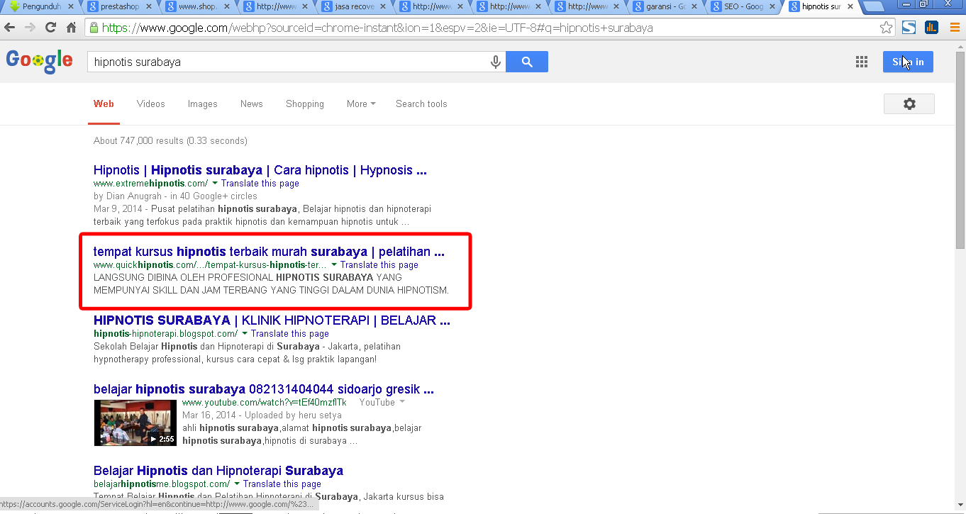CARA MEMBUAT WEBSITE PERINGKAT GOOGLE YAHOO SEARCH ENGINE OPTIMIZATION