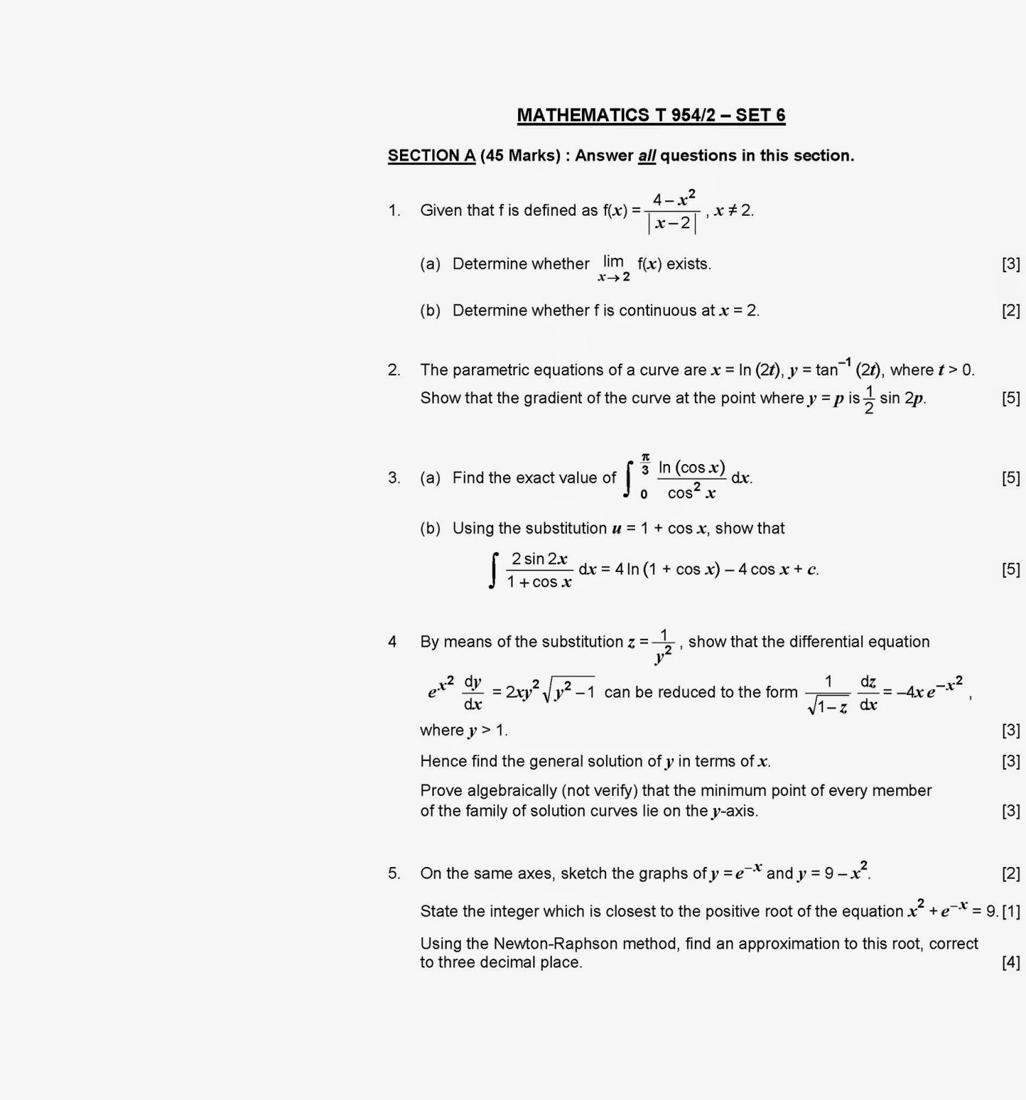 stpm 2012 kedah maths t trial Matematik (t) k2 trial stpm 2012 kelantan posted on: october 20th, 2012 by bankstpm peperiksaan percubaan spm tahun 2012 kedah matematik (t) kertas 2  muat turun .