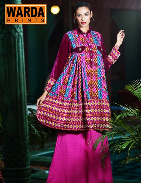 Warda Khaddar prints fall/winter designer collection 2013