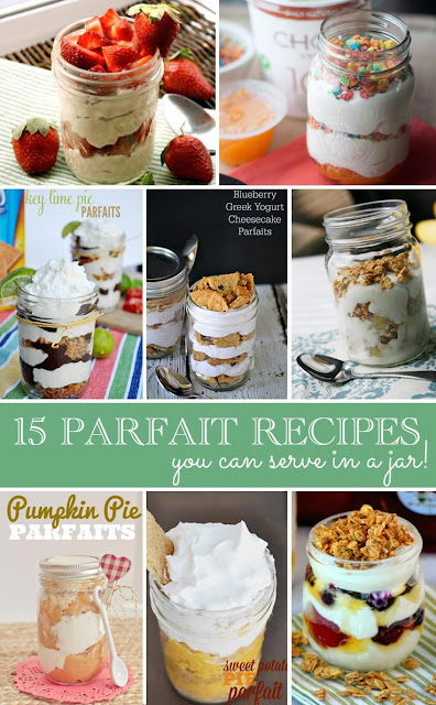 15 Parfaits in Jars -- a great idea to enjoy this summer!
